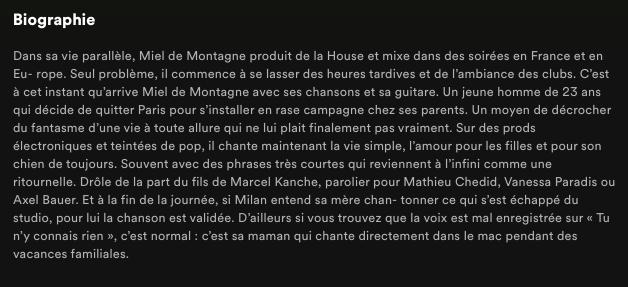 Exemple de biographie - @miel2montagne