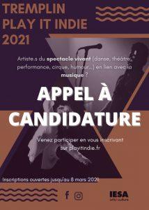 Appel à candidature tremplin musique Play It Indie 2021