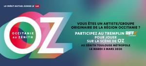 Tremplin RIFFX - OZ – Occitanie au Zénith pour artiste/groupe originaire de la région Occitanie