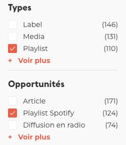 Entrer en playlists Spotify avec Groover