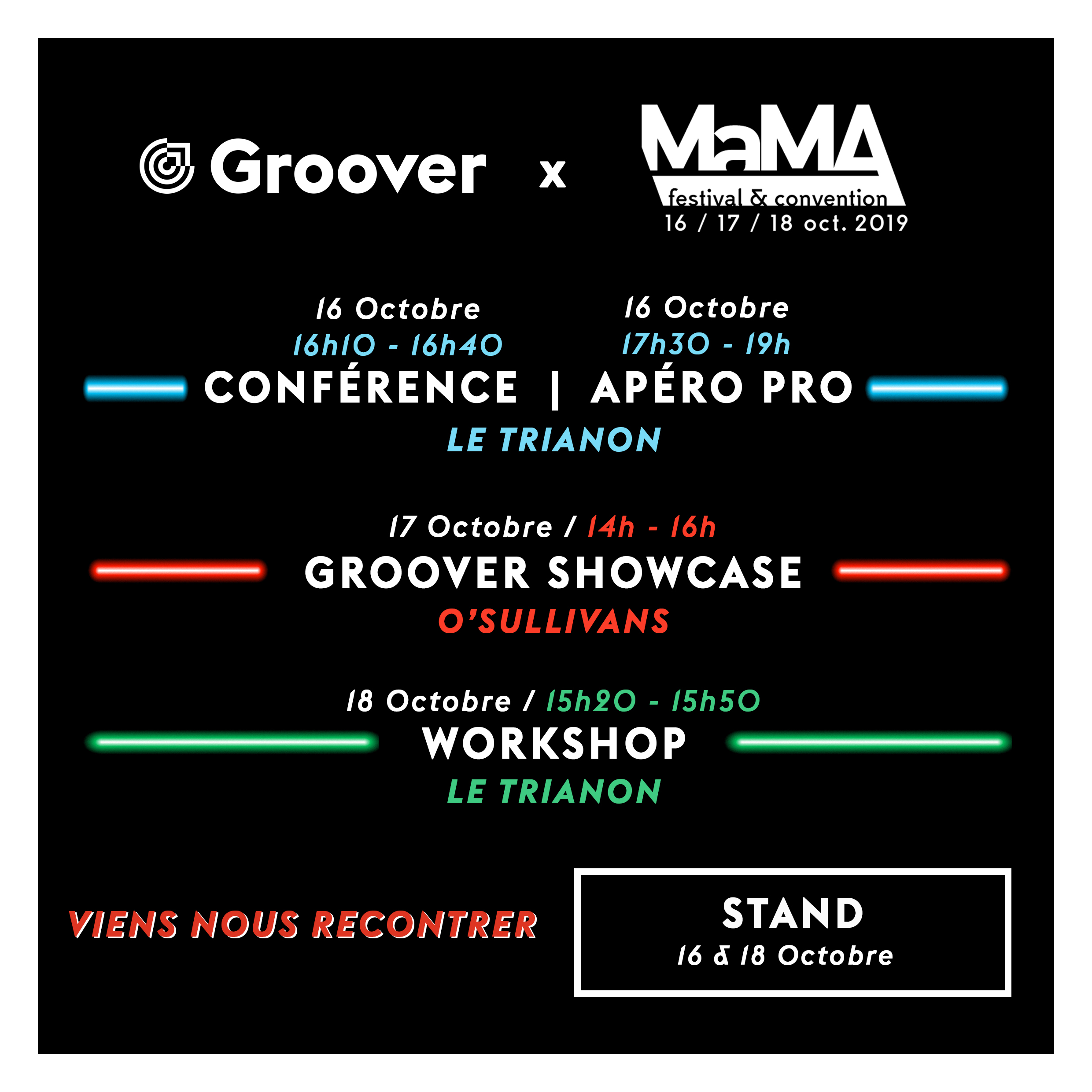 Programme Groover au MaMA