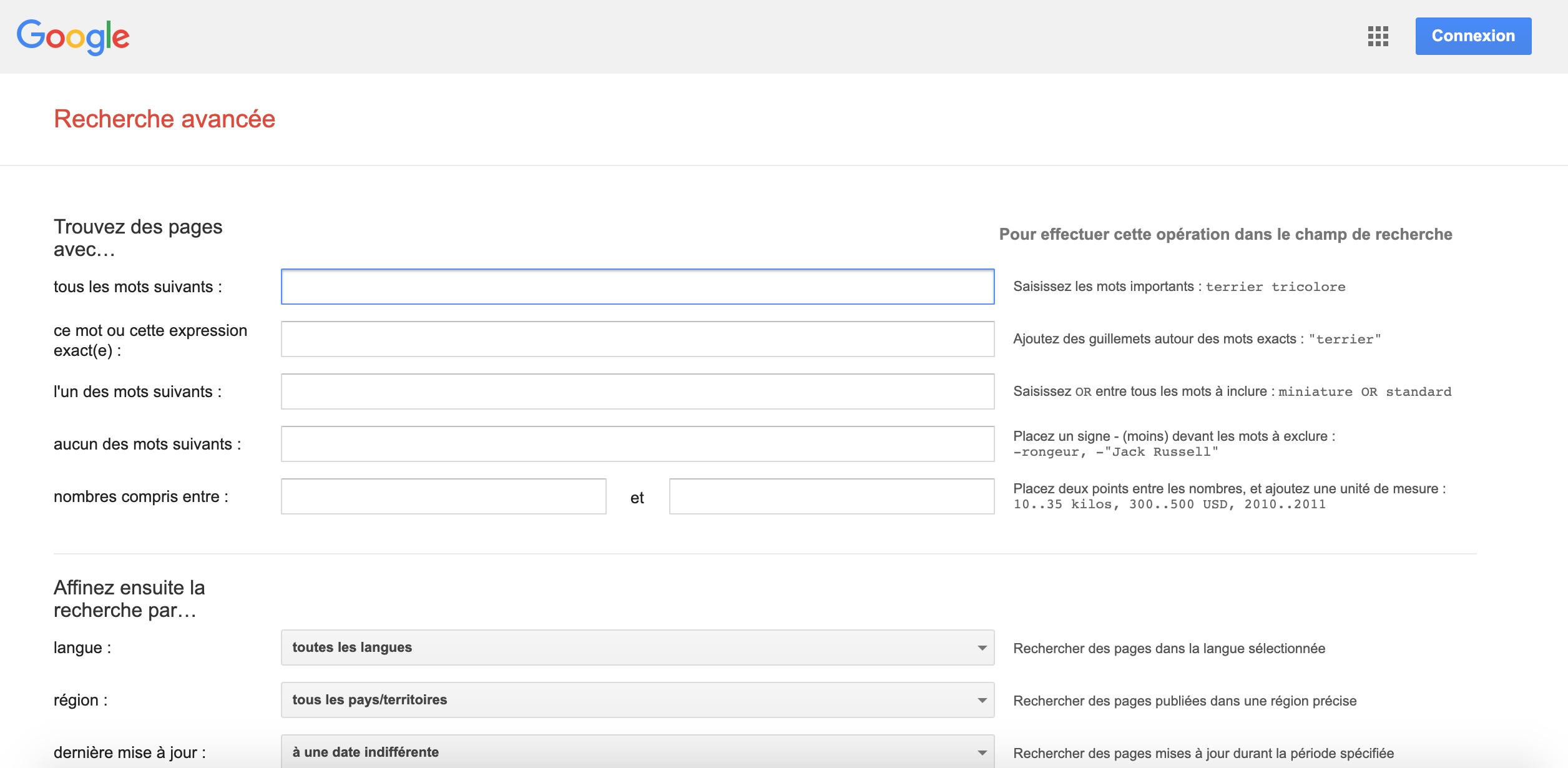 Recherche avancée Google : outil pratique pour une veille internet