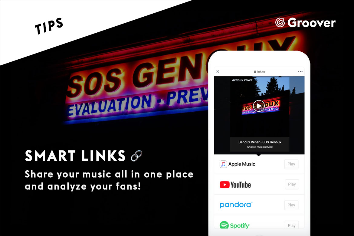 Smart Links - Share your music all in one place and analyze your fans