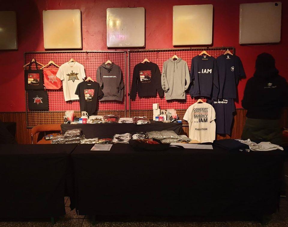 Merchandising sortie de concert