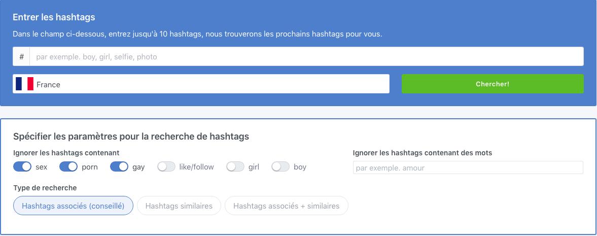 TagsFinder - Un générateur de hashtags