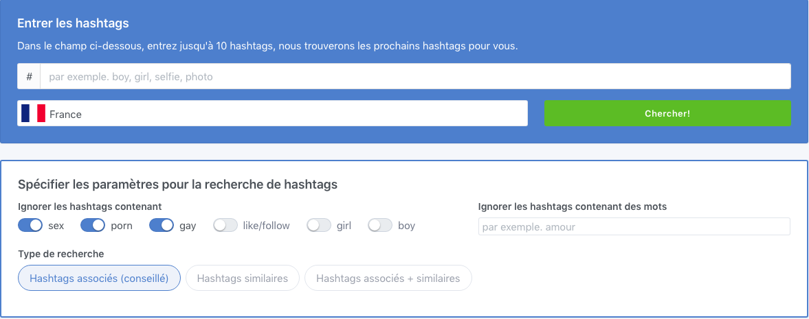 TagsFinder - Hashtag generator