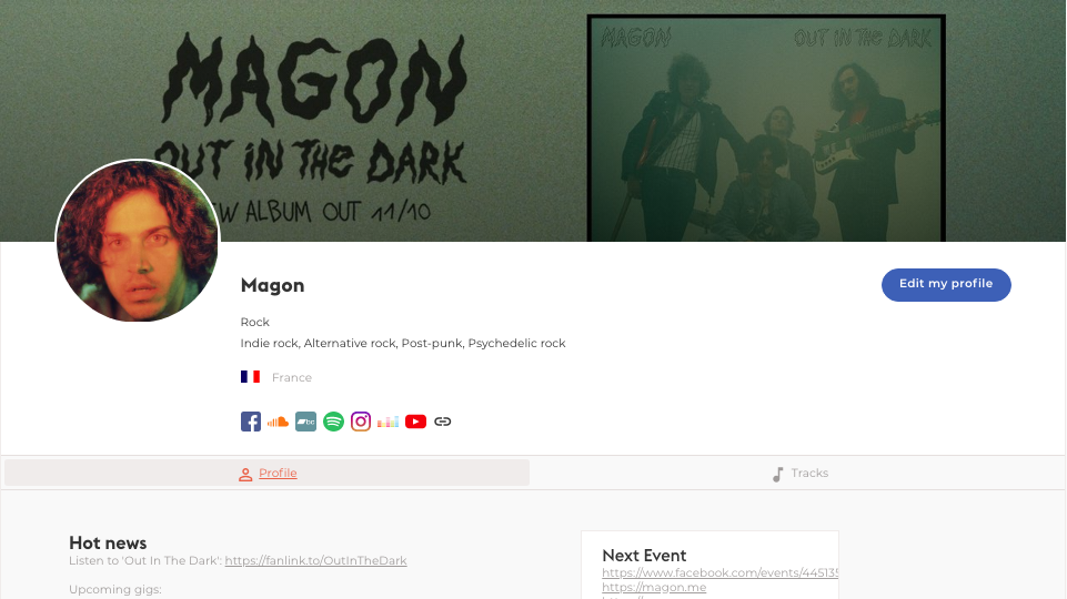 Magon's artist profil on Groover