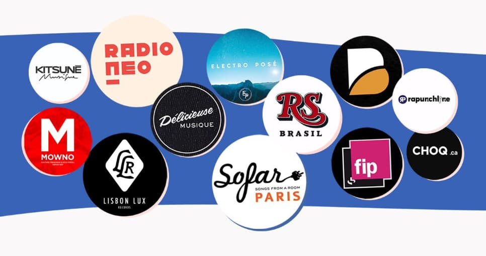 1000+ medias, radios, labels et music professionals active on Groover
