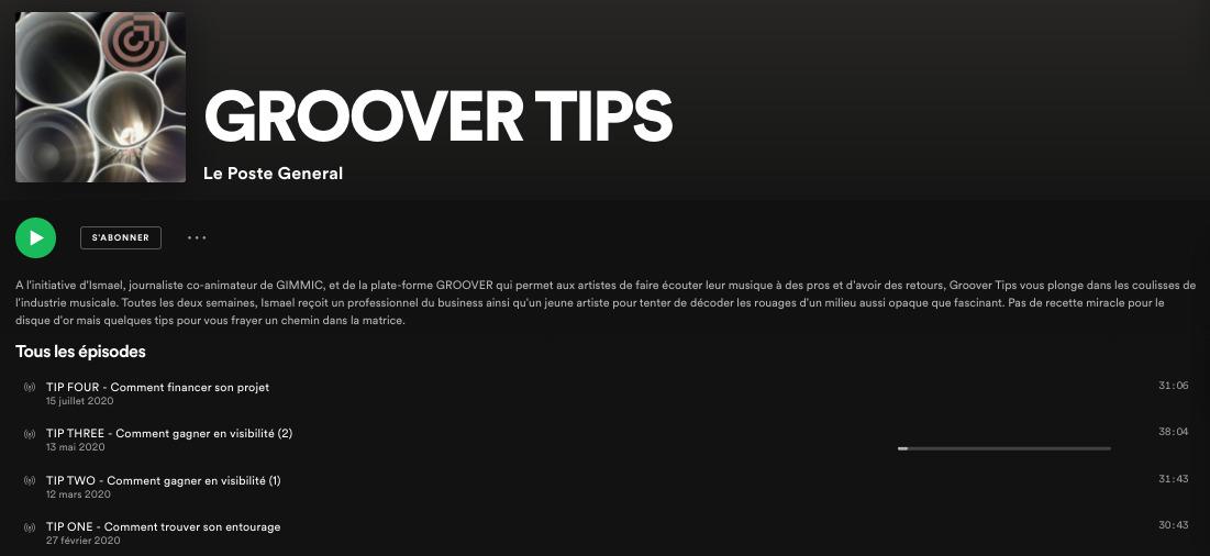 Groover Tips - Le podcast qui vous plonge dans les coulisses de l'industrie musicale