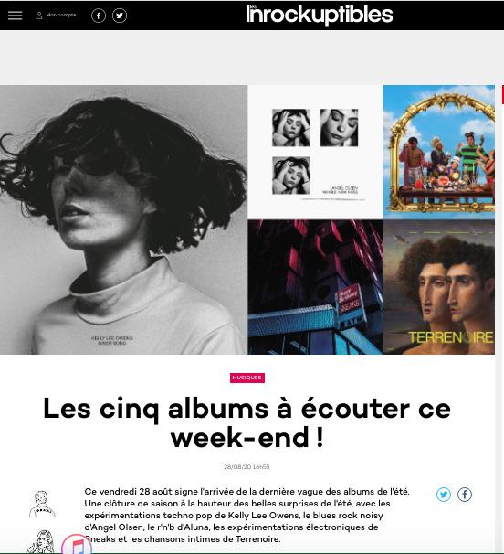 Journalistes musicaux - Comment contacter journaliste, média et presse - Exemple de retombée presse - Les Inrocks