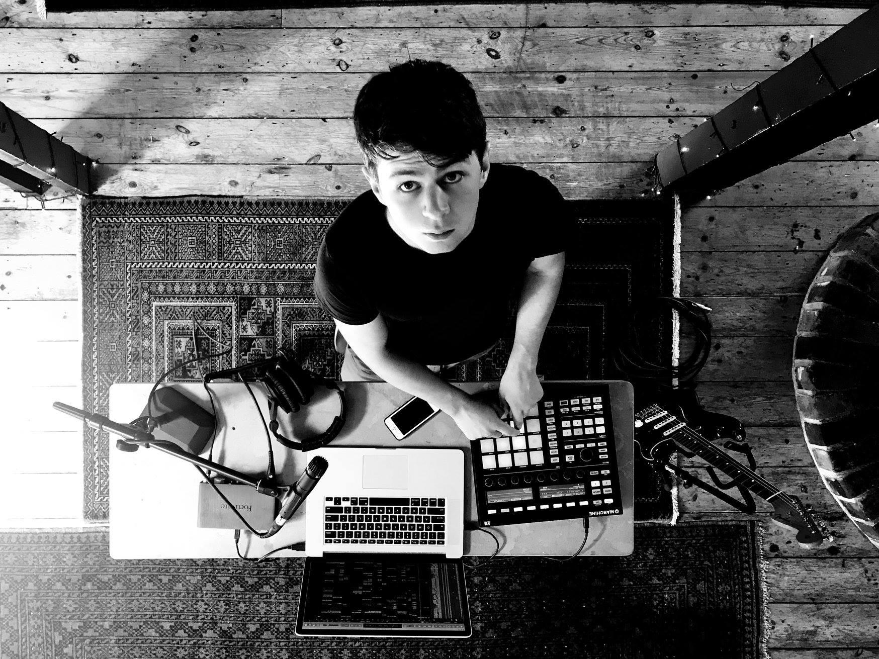 Tarn PK playing and producing music