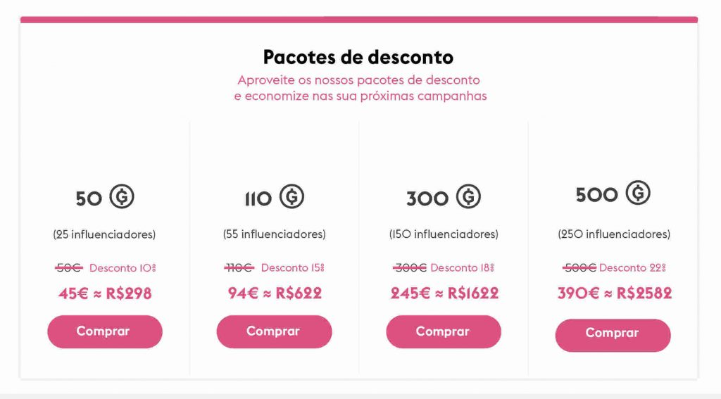 promoção musical Pacotes de Desconto na Groover