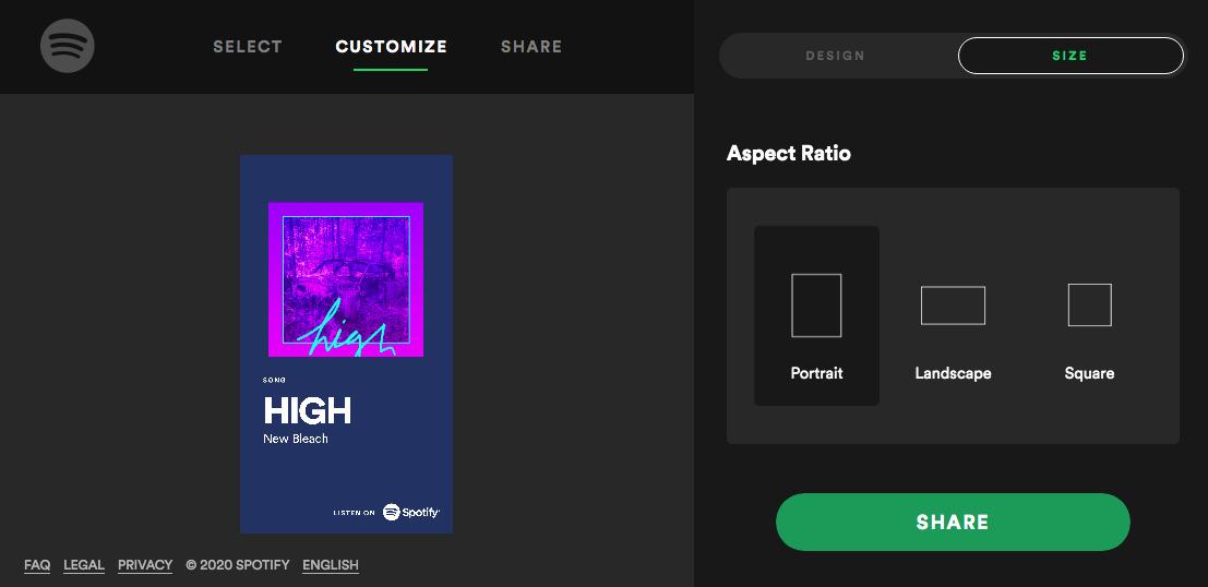 Cartões Promocionais Spotify