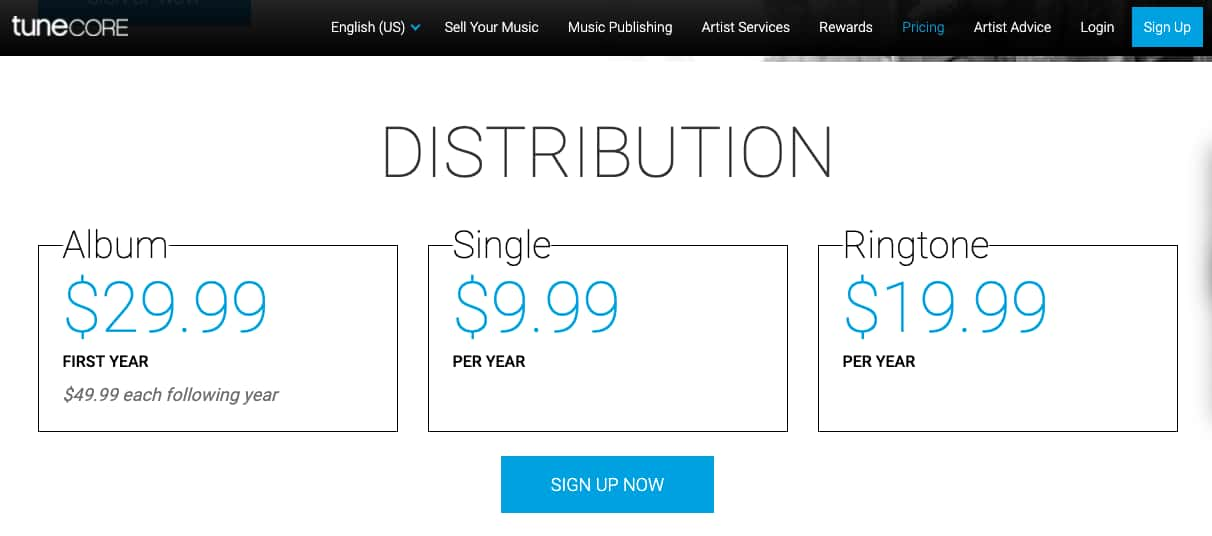 Online Music Distribution with TuneCore - How much does it cost?