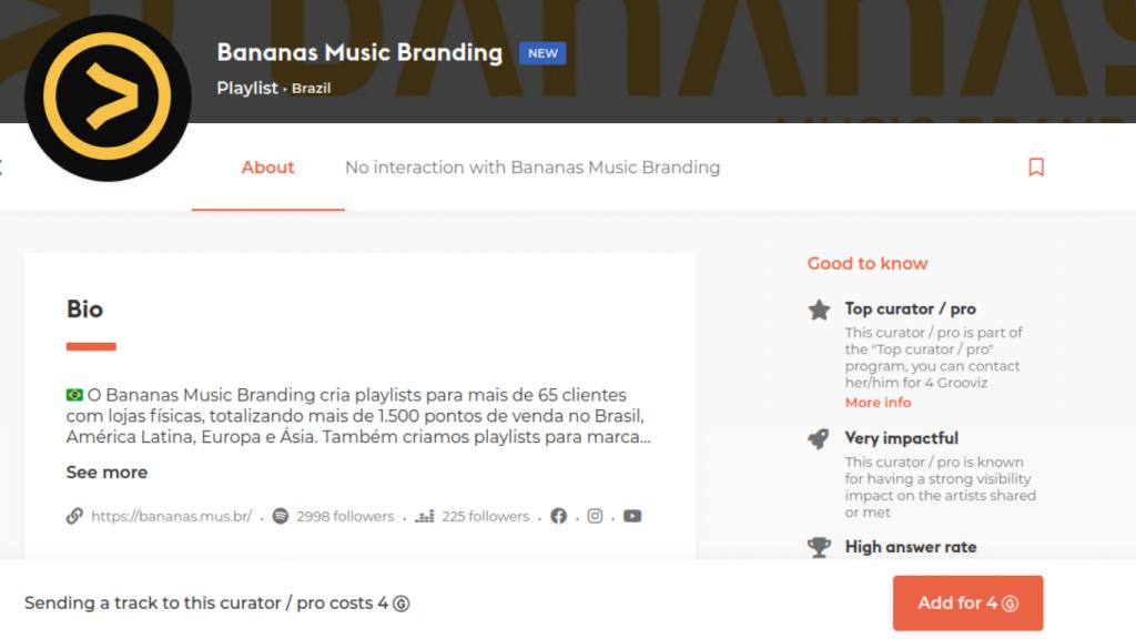 Bananas Music Branding na Groover