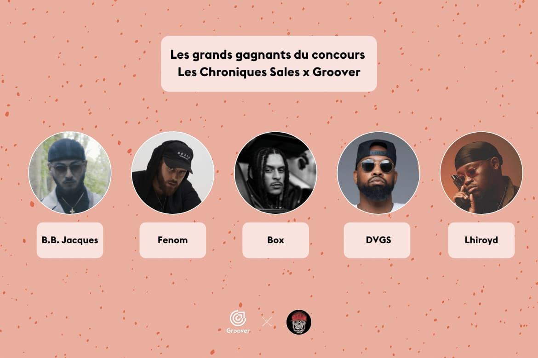 Les grands gagnants du concours Les Chroniques Sales x Groover