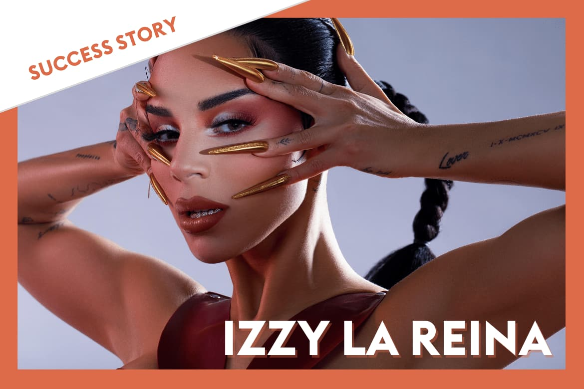 Izzy La Reina launches her new single using Groover