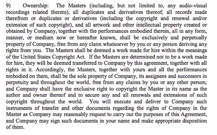 Contrato de Gravação