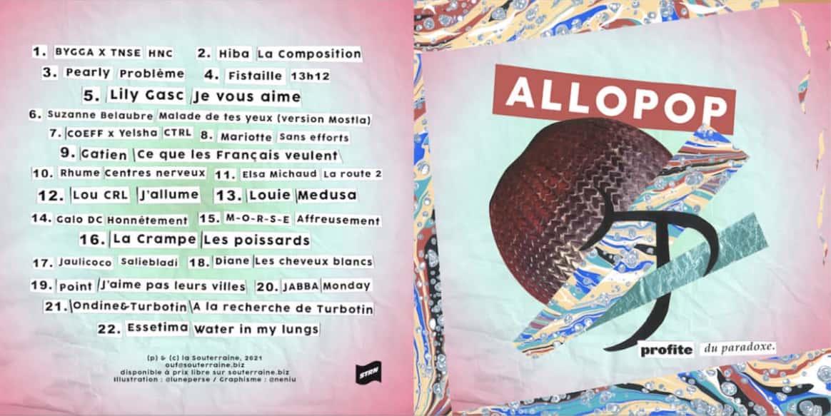 Allopop, pochette de cd du troisième volume de La Souterraines
