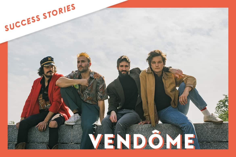 Playlist, radio, média, etc. Vendôme, le groupe de musique canadien, gagne en visibilité grâce à Groover