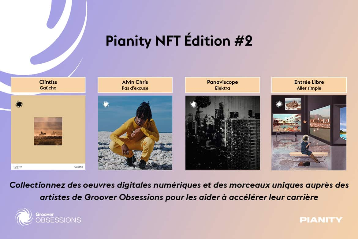 NFTs musicaux : collection #2 Pianity et Groover Obsessions